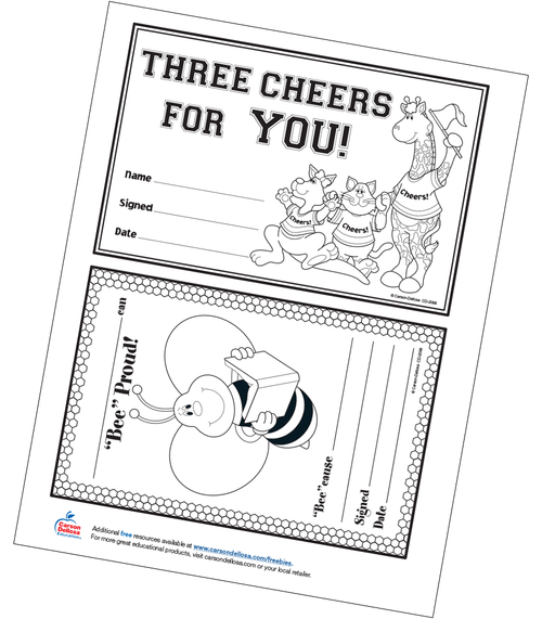 April Student Awards Free Printable
