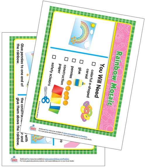 Rainbow Mosaic, Grades PK-1 Free Printable