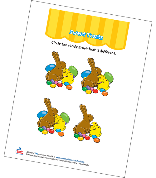 Sweet Treats Grades PK-K Free Printable