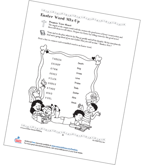Easter Word Mix-Up Grades 1-3 Free Printable