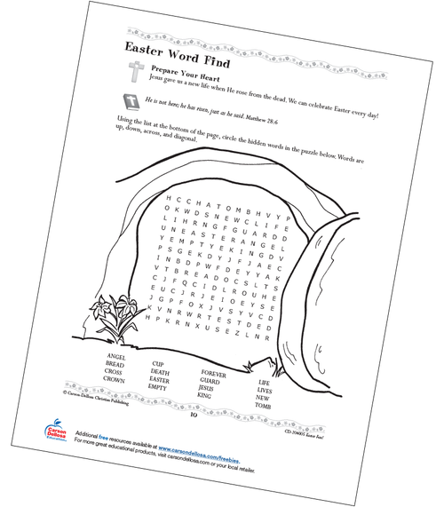 Easter Word Find Grades 1-3 Free Printable