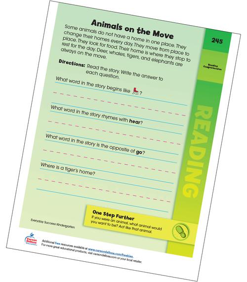Animals on the Move Grades PreK-1 Free Printable