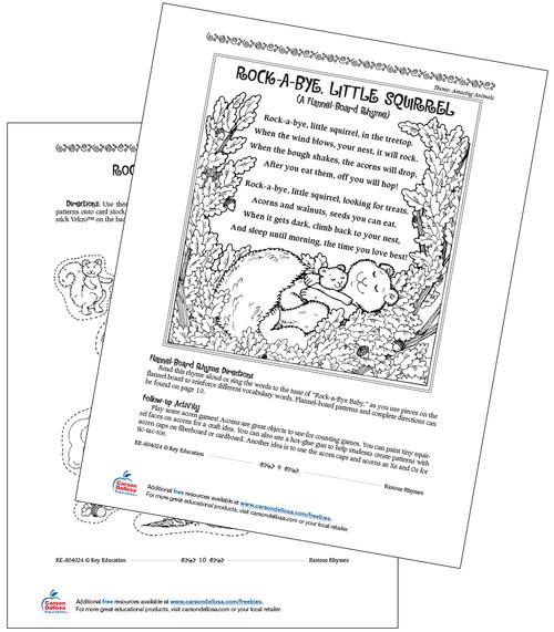 Rock-A-Bye, Little Squirrel Grades PreK-2 Free Printable