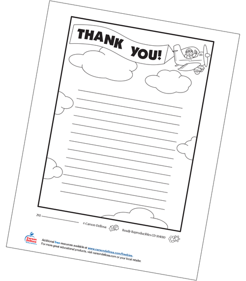 Thank You Letter Free Printable