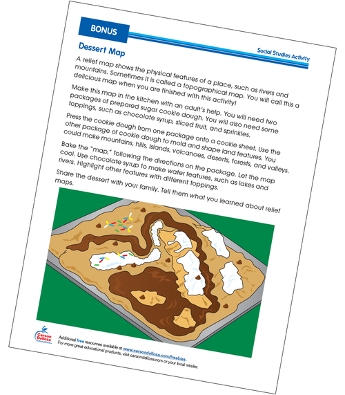 Sugar Cookie Dessert Map Grades 1-2 Free Printable