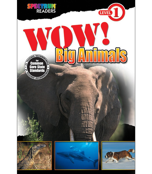 WOW! Big Animals Reader Grade PK-1 Free eBook