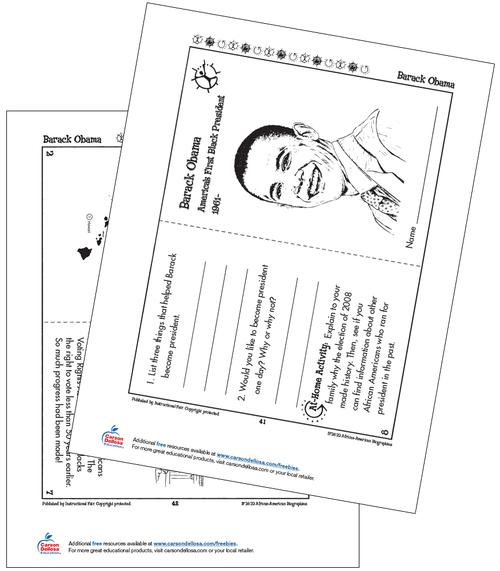 Barack Obama Grades K-2 Free Printable