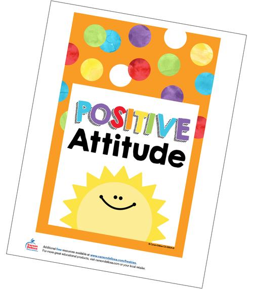 Positive Attitude Poster Free Printable