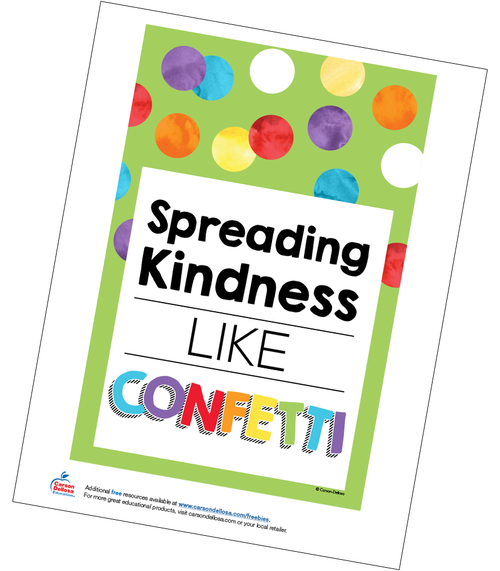 Spreading Kindness Like Confetti Poster Free Printable