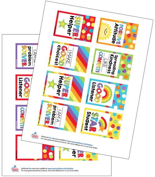 Celebrate Learning Reward Tags Free Printable