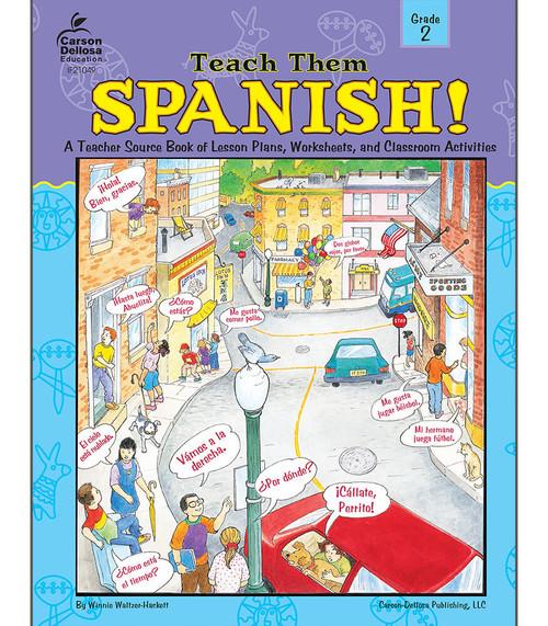 Instructional Fair Teach Them Spanish!, Grade 2 Teacher