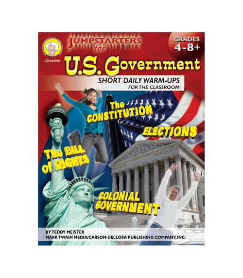 Mark Twain Jumpstarters for U.S. Government, Grades 4 - 8 Teacher