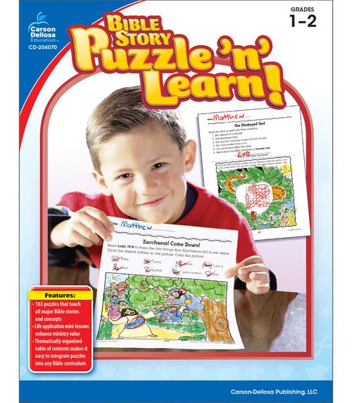 Christian Bible Story Puzzle 'n' Learn!, Grades 1 - 2 Teacher