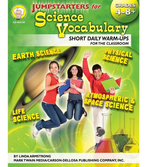 Mark Twain Jumpstarters for Science Vocabulary, Grades 4 - 12 Teacher