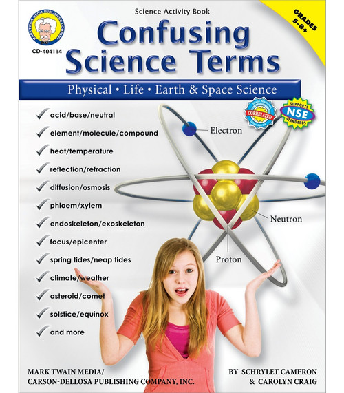 Mark Twain Confusing Science Terms, Grades 5 - 12 Teacher