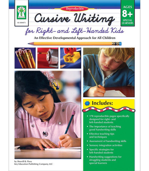 Key Education Publishing® Cursive Writing for Right- & Left- Handed Kids, Ages 8 - 13 Teacher
