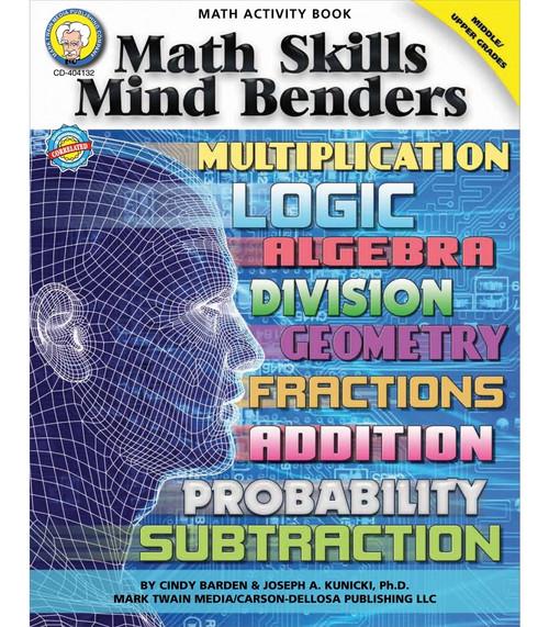 Mark Twain Math Skills Mind Benders, Grades 6 - 12 Teacher