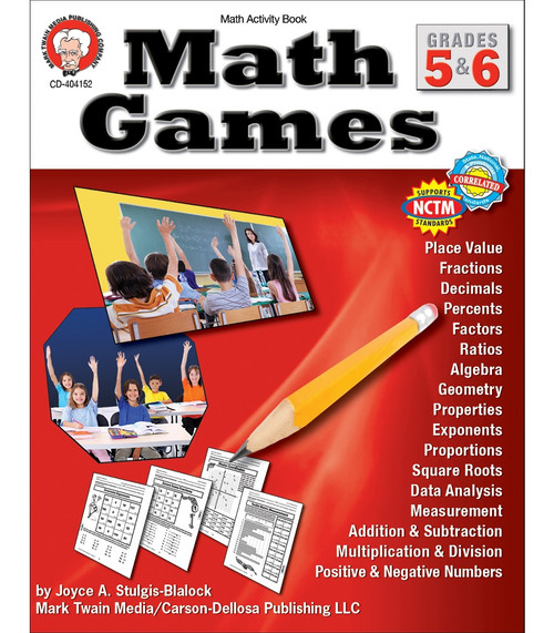 Mark Twain Math Games, Grades 5 - 6 Teacher