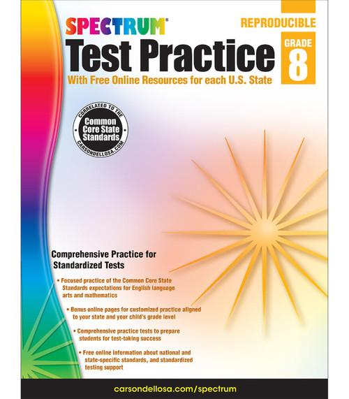 Spectrum® Spectrum Test Practice, Grade 8 Parent