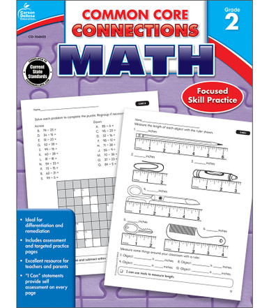 Common Core Connections Math Workbook Grade 2 Paperback