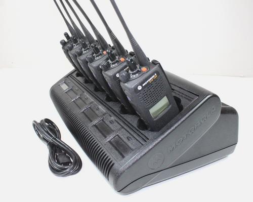 6-Pack Motorola XTS1500 800Mhz Model 1.5 P25 Digital 764-870Mhz w/ Bank Charger