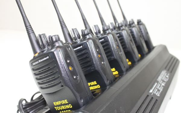 6-Pack of Vertex VX-451-G7-5 UHF (450-512MHz) Portable Radios w/ ENGRAVING