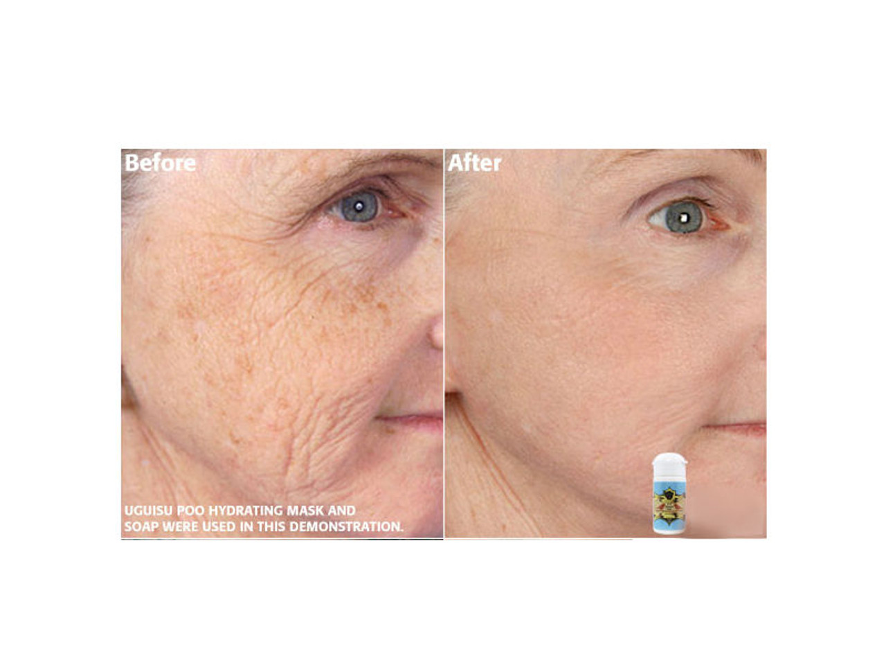 Before and after pictures of the Hydrating Mask