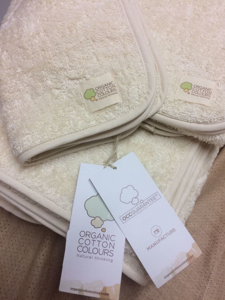 Organic Cotton Colours Face Towels - Chemical and Dye-Free