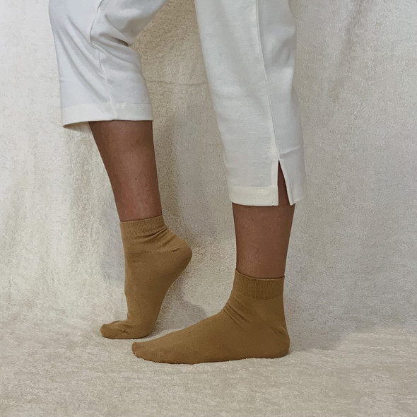 These socks are 96% Organic Cotton and 4% Elastane