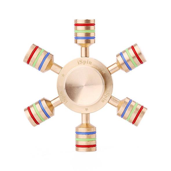 ISpin Original  Hand Spinner - ADHD Fidget  Brass Spinner