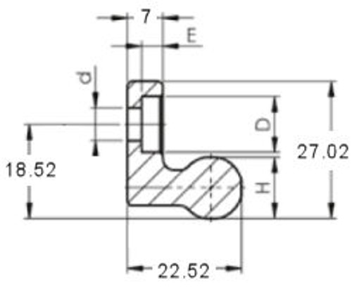 FRX43G Rail End Dimensions