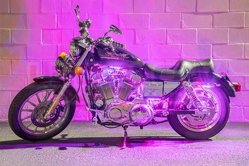 6pc Flexible Million Color LED Motorcycle Light Kit - Pink