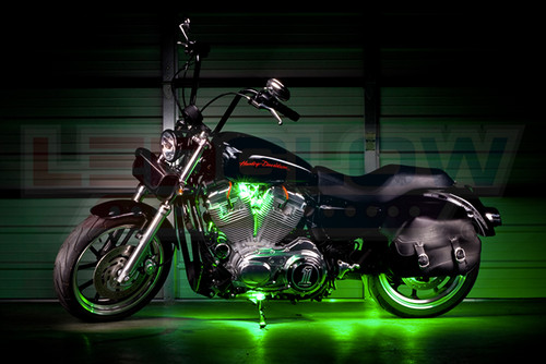Green Motorcycle Pod LED Lighting Kit