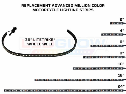 Replacement Advanced Million Color Motorcycle Lighting Strips