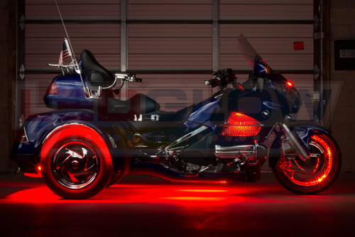 Red LiteTrike Motorcycle LED Lights