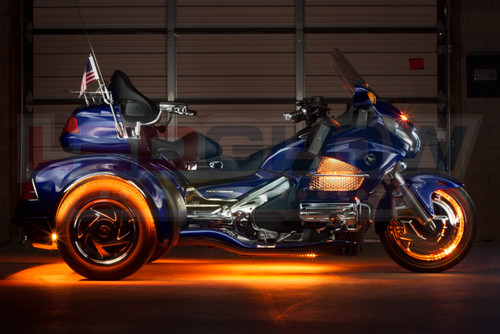 Orange LiteTrike Motorcycle LED Lights