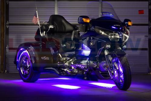 Purple LiteTrike II Motorcycle LED Lighting Kit