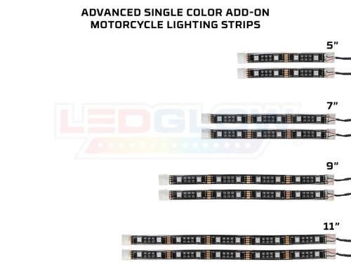 Advanced Single Color LED Flexible Motorcycle Add On Kit