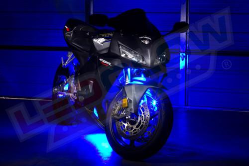 Blue LED Motorcycle Mini Lighting Kit