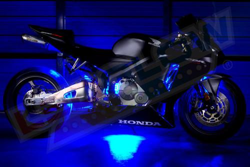 Blue Motorcycle Mini LED Lights