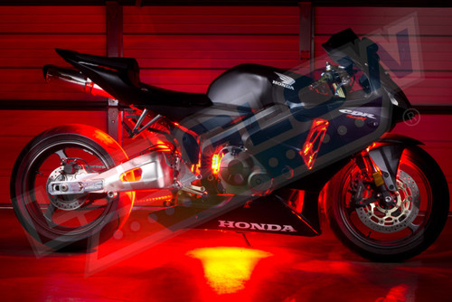 Red Motorcycle LED Lights