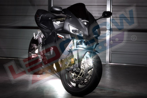 White LED Motorcycle Lighting Kit