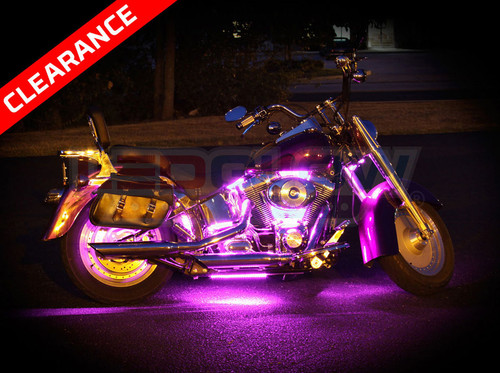 Pink Motorcycle LED Accent Lights