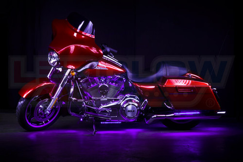 Purple LED Motorcycle Underglow Lights
