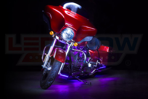 Purple Motorcycle LED Lighting Kit