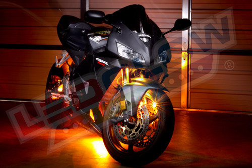 Orange LED Motorcycle Lighting Kit