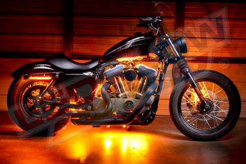 Orange Motorcycle LED Accent Lights