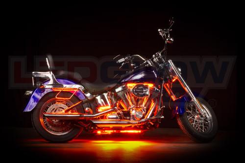 Orange LED Motorcycle Underglow Lights
