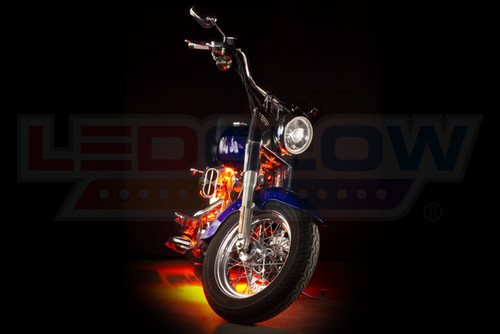LEDGlow Orange Motorcycle LED Lighting Kit