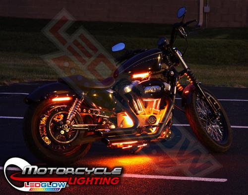 Classic Orange LED Motorcycle Lights